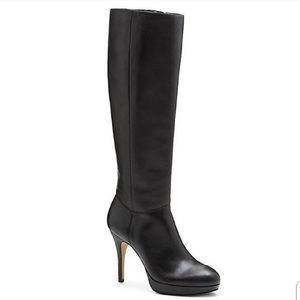 Vince Camuto Leather Platform Knee High Boots